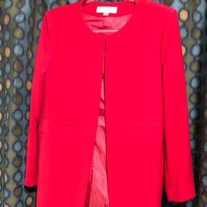 Tahari never used long red coat/blazer